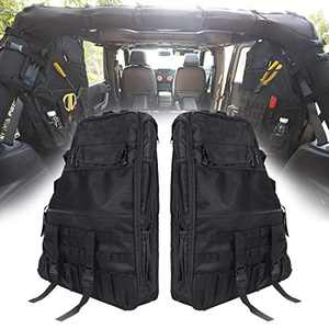 SUPAREE Roll Bar Storage Bag Cargo Cage for 1997-2020 Jeep Wrangler JK TJ LJ & Unlimited JL 4-Door with Multi-Pockets & Organizers & Cargo Bag Saddlebag Tool Kit
