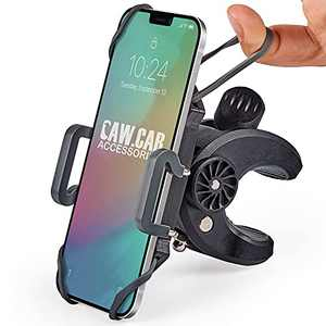 Bike & Motorcycle Phone Mount - for iPhone 12 (11, Xr, SE, Plus/Max), Samsung Galaxy S20 or Any Cell Phone - Universal Handlebar Holder for ATV, Bicycle or Motorbike. +100 to Safeness & Comfort