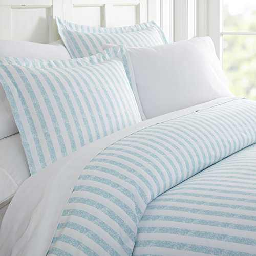 Linen Market Pattern 15_2 Duvet Cover Set, King/California King, Rugged Stripes Light Blue
