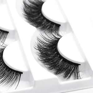 100% Mink Lashes Fluffy Wispy Long Dramatic False Eyelashes Set Thick Volume Fake Eyelashes Natural Soft Extension Eyelashes Handmade Pack Lashes 5 Pack 5 Fashion Styles Multipack B