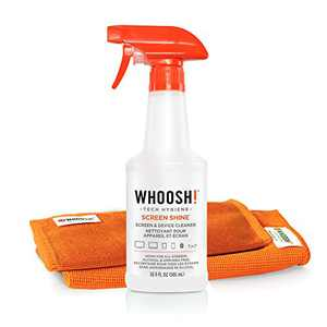 Screen Cleaner Kit by WHOOSH! - [16.9 Oz] Best for Smartphones, iPads, Eyeglasses, e-Readers, Touchscreen & TVs - Includes 1 Unit of 16.9 fl oz (14x14) W! Cloth + (6x6) W!Cloth
