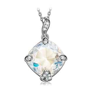 NINASUN S925 Sterling Silver Pendant Mother's Day Necklace Hollow Out Crystal Jewelry for Women Birthday for Teen Girls Anniversary Present for wife Christmas Gifts for Daughter
