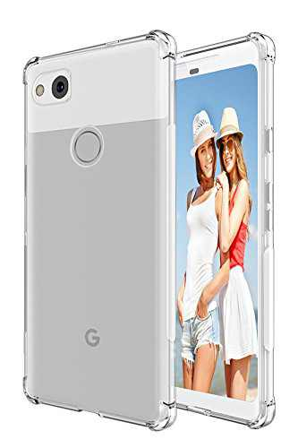 Protective Case for Google Pixel 2 XL, Findway Case for Google Pixel 2 XL TPU Bumper Anti-Scratch Slim Protective Clear Case Back Cover for Google Pixel 2 XL