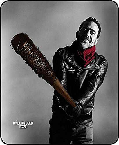 "The Walking Dead Plush Fleece Negan and Lucille 45"" x 60"" Throw Blanket"