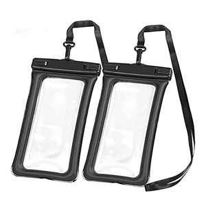 Amoner Universal Waterproof Phone Pouch, Phone Waterproof Bag Case for 1phone Android and More Beach Accessories