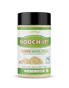 "NOOCH IT! Fair Trade Dairy-Free Cashew Grated Cheeze | Vegan Parmesan ● Tasty Cheese Alternative | 4oz (Vegan ""Parm"", Gluten-Free)"