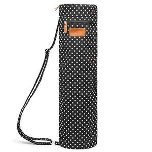 ELENTURE Yoga Mat Bag, Yoga Mat Carrier Full-Zip Exercise Yoga Mat Carry Bag for Women Men with Multi-Functional Storage Pockets and Adjustable Shoulder Strap