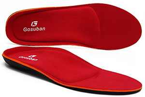 Gosuban Maximum Cushion Orthotic Insoles for Flat Feet,Arch Support Shoe Inserts Against Plantar Fasciitis,Overpronation