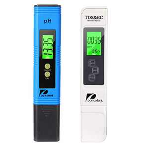 Water Quality Test Meter Pancellent TDS PH EC Temperature 4 in 1 Kit (Blue,Upgrade LED)