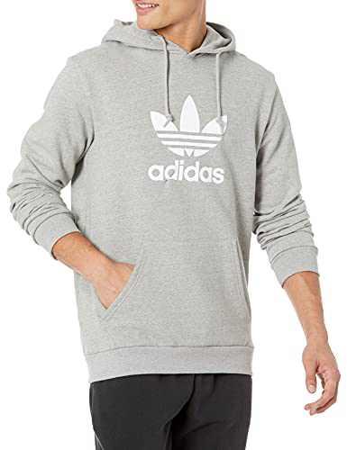 adidas Originals mens Trefoil Hoodie Medium Grey Heather Small