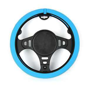 AOTOMIO Blue Steering Wheel Cover Comfortable Easy Storage Car Steering Accessory with Gift Package