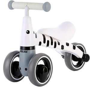 Baby Balance Bike 10 24 Months   Fun Animal Themes   1 Year Old Girl Gifts   Ideal First Birthday (Zebra Bike)