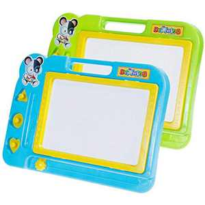Faburo 2 Pcs Magnetic Drawing Board Erasable Sketcher Tablet Magnet Doodle Pad For Kids