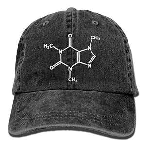 Molecule Gamer Nerd Geek Science Adjustable Sports Cotton Washed Denim Hat Black