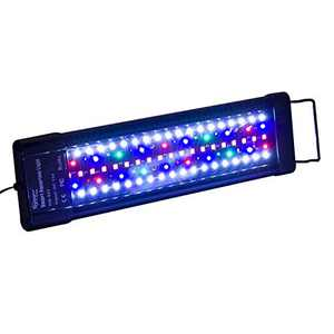Hygger Auto On Off 12-17 Inch LED Aquarium Light Extendable Dimmable 7 Colors Full Spectrum Light Fixture for Freshwater Planted Tank Build in Timer Sunrise Sunset