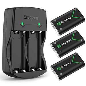 Smatree Rechargeable Battery Compatible with Xbox Series X|S/Xbox One/Xbox One S/Xbox One X/Xbox One Elite Wireless Controller, 3 Pack Batteries with Charger