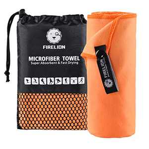 FIRELION Microfiber Towel for Travel Sports - Soft Compact Lightweight Multi-Purpose - Suitable for Camping, Gym, Beach, Swimming, Backpacking, Hiking, Yoga
