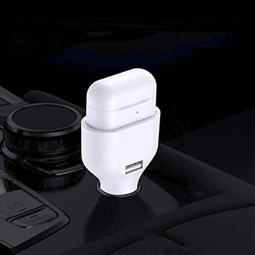 U'KING 2 in 1 Car Charger for Airpods & Phone (Black)