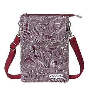 AOCINA Purses for Teen Girls Cell Phone Purse Mini Wallet Canvas Crossbody Bags for Teen Girls Women(Red)