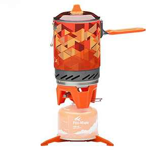 Fire Maple FMS-X2 Fixed Star 2 Personal Cooking System Outdoor Hiking Camping Equipment Oven with Piezo Ignition POT Support & Stand - Portable Propane Gas Stove Burner