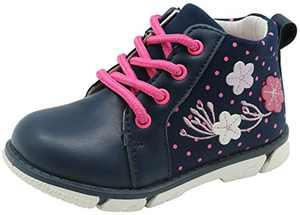 Apakowa Toddler Girl's Fashion Floral Boots (Color : Blue, Size : 7 M US Toddler)