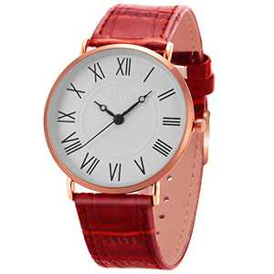 Wrist Watch Mens Ultra-Thin Minimalist SIBOSUN Quartz Brown Leather Strap Classic Roman Numerals Anolog