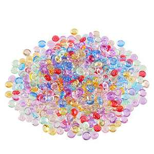 CCINEE 45 Grams Fishbowl Beads Plastic Vase Filler Beads Small Slime Beads for Crunchy Slime Making DIY Projects and Crafts Supplies, Mixed Color