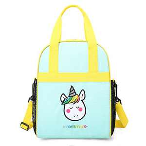 mommore Portable Unicorn Lunch Bag for Kids Insulated Lunch Tote Bag, Green
