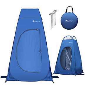 YOUKADA Camping Toilet Pop Up Privacy Tent Changing Room Tent Portable Toilet for Camping Portable Shower Silver Coated Dressing Room Tent UV Protection Privacy Shelter Camping Cabana, Blue