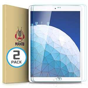 MANTO (2 Pack) Screen Protector for iPad Air 3 (2019) and iPad Pro 10.5 (2017) Premium Tempered Glass Film 9H Hardness, Anti-Scratch, Anti-Bubble for iPad 10.5 Inch