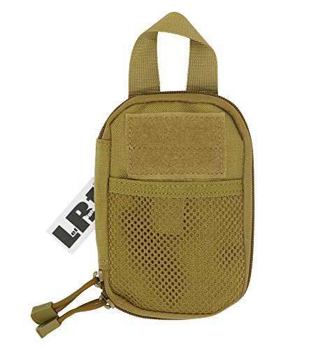 LefRight Camo Mini Tactical Molle EDC Compact Pocket Organizer Pouch (Khaki)