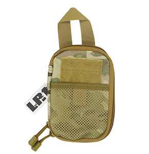 LefRight Camo Mini Tactical Molle EDC Compact Pocket Organizer Pouch (Camouflage)