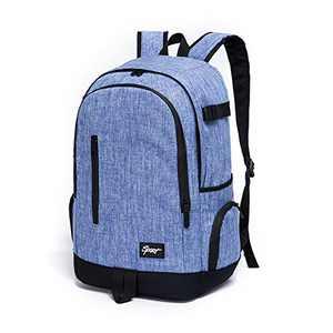 Ricky-H Lifestyle College School Backpack, Travel Bag for Men,Women- Denim Blue