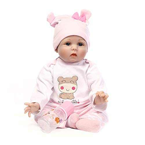 Reborn Baby Dolls 22 inch,Quality Realistic Handmade Babies Dolls Girls Soft Vinyl Silicone Lifelike Kids Gifts / Toys Age 3+, EN71 Certification