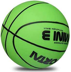 Stylife 5inch Mini Basketball for Kids, Inflatable Ball Environmental Protection Material,Soft and Bouncy,Colors Varied (Light Green)