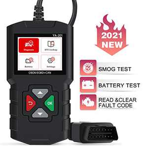 JDIAG OBD2 Scanner Enhanced Car Code Reader Check Engine Light OBDII CAN Diagnostic Scan Tool Universal for Vehicles After 1996 - Black