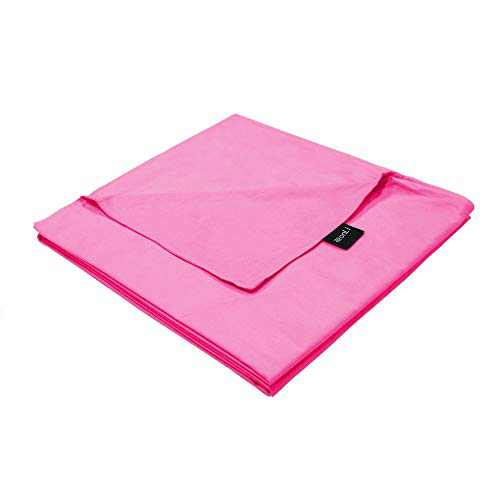 ZonLi 60''x80'' Pink Duvet Cover, Queen Size Removable Duvet Cover for Weighted Blanket