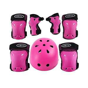 Weanas Helmets for 3-14 Years Kids Youth Adjustable Sports Protective Gear Set, Cycling Skating Safety Pad Safeguard (Helmet Knee Elbow Wrist Pads)