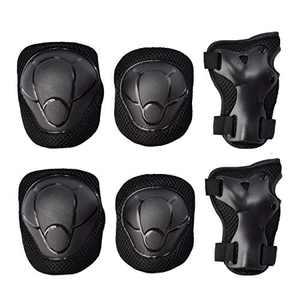 GOBEST Kids Knee Pads Elbow Pads Wrist Guards Protective Gear 6 in 1 Set for Rollerblading Cycling Skateboard Inline Roller Skatings Scooter Biking