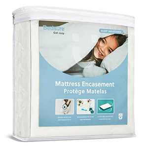 Bedsure Twin Mattress Protector with Zipper Mattress Cover Single Waterproof Mattress Encasement - Up to 12 inches