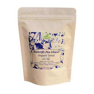 Butterfly Pea Flower   Dried 100% Organic   Premium Blue Tea   Caffeine-free Anti-oxidant   Hand-Harvested Dried Butterfly Pea Flowers Whole 1.25 oz (35g)