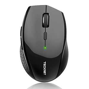 TECKNET Bluetooth Wireless Mouse, 5 Adjustable DPI Levels, 24-Month Battery Life, 6 Buttons Compatible for Ipad/ Laptop/Surface Pro/Windows Computer/Chromebook-Black