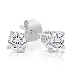 1/4ct tw Diamond Stud Earrings in 14k White Gold