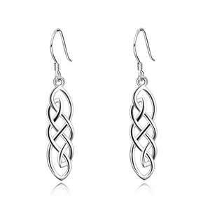 Celtic Jewelry Sterling Silver Religious Good Luck Irish Celtics Knot Dangle Dangling Drop Earrings Gifts for Women Girls