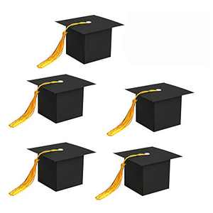 SHIYIXING 25Pcs Graduation Decorations Graduation Gift Box Graduation Candy Boxes Chocolate Box for Graduation Party Favor (Black)