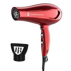 JINRI Hair Dryer, 1875W Professional Salon Ceramic Negative Ionic Blow Dryer with Concentrator Quiet and Quick Drying Hair Dryer, DC Motor, ETL Certified