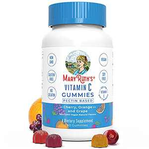 Vegan Kids Vitamin C Gummies by MaryRuth's | 2 Month Supply | Great Tasting Plant-Based Formula Supports Immune Function & Overall Health for Kids | Non-GMO with 125 mg of Vitamin C Per Gummy