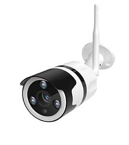 NETVUE Security Camera Outdoor, Wi-Fi Security Camera, CCTV Camera with Smart Motion Detection, 2-Way Audio, 20m Night Vision, Compatible with Alexa, Push Alert/Remote Control, IP66, White