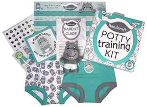 Handcraft Potty Training Kit for Toddlers, Includes parent guide, Training Pants and more, Teal, size 2T/3T
