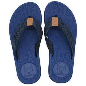 KuaiLu Mens Flip Flops Thong Sandals Yoga Foam Slippers Blue